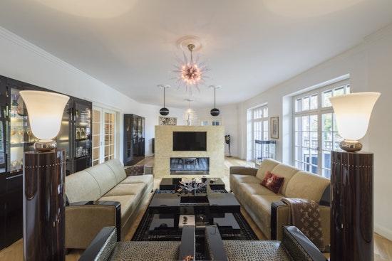 KASEL Innenarchitekten Umgestaltung Villa im Art Deco Stil Wohnzimmer Interior Design