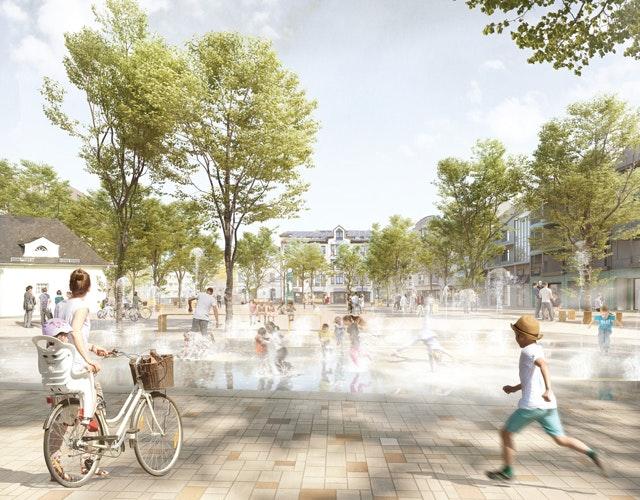 Umgestaltung der Fußgängerzone und des Marktplatzes in Solingen-Ohligs