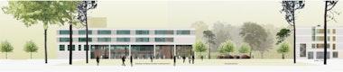 Gymnasium / Realschule Ansicht Ost © BLK2 Architekten