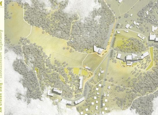 ein 2. Preis Zuschlag: Lageplan (Realisierungsteil), © plancontext