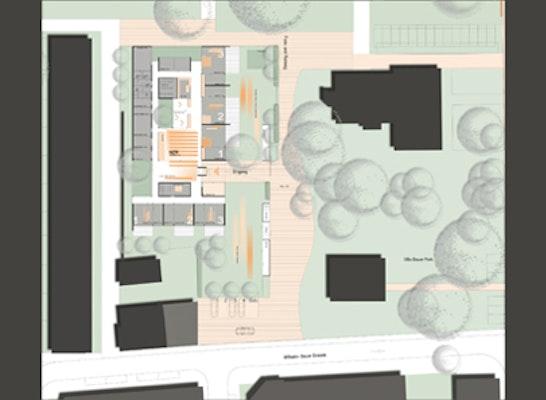 Grundriss Erdgeschoss mit Aussenanlagen