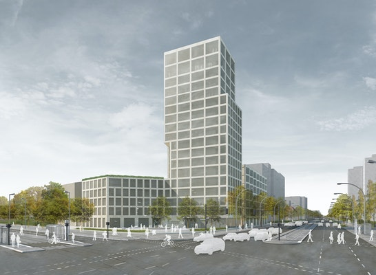 1. Preis: Perspektive Fischerbrunnen, © Hemprich Tophof Architekten