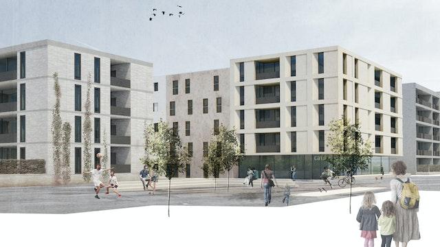 Neubau eines mehrgeschossigen Wohngebäudes in Ulm-Söflingen