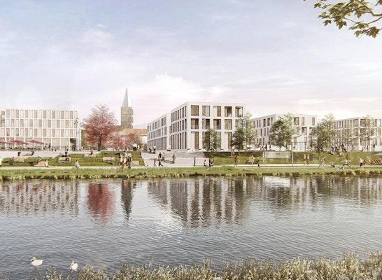 1. Preis: Das neue Kanalquartier, © GREENBOX/trint+kreuder d.n.a