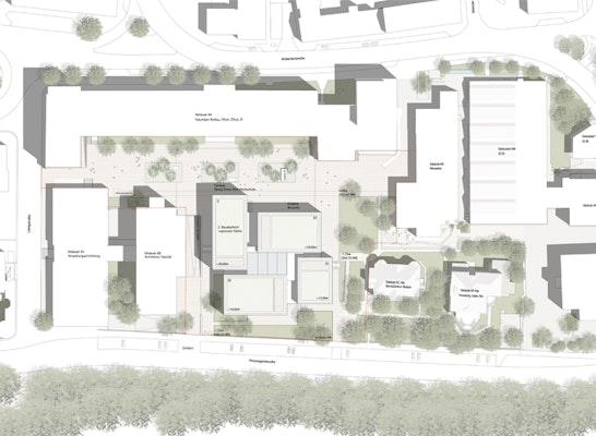 Lageplan I © WES LandschaftsArchitektur
