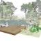 Naturnaher Badesee mit Waldsauna