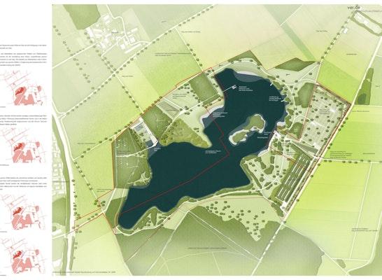 Gewinner Zur Realisierung empfohlen: Entwurfskonzept Variante 1, © ver.de landschaftsarchitektur