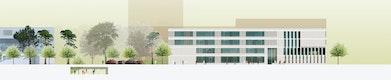 Gymnasium / Realschule Ansicht West © BLK2 Architekten