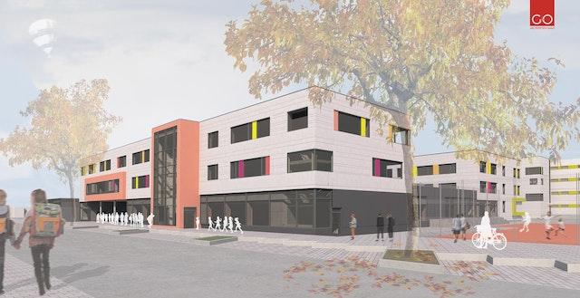 Erweiterung der Theresengrundschule und der Wittelsbacher-Mittelschule, Generalsanierung der Wittelsbacher-Mittelschule in Germering – Objektplanung Gebäude