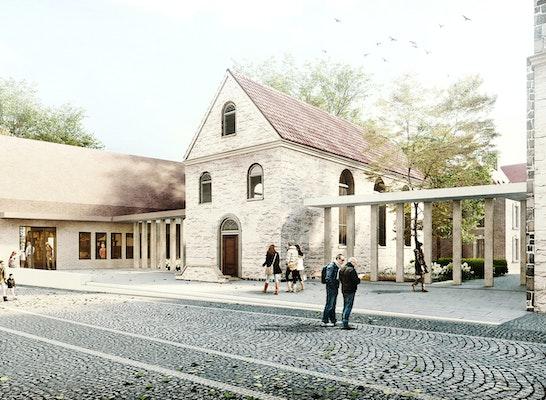 Neubau mit Wolderuskapelle und Kreuzgang
