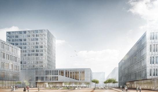 Visualisierung zum Neubau der Fakultät für Elektrotechnik und Informationstechnik (TUM)