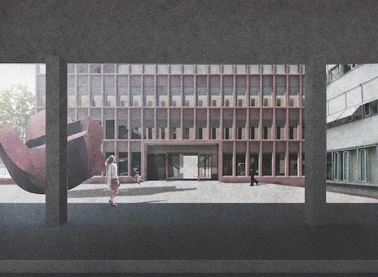 ein 2. Preis Zuschlag: Perspektive Innenhof, © Beer Bembé Dellinger Architekten und Stadtplaner GmbH