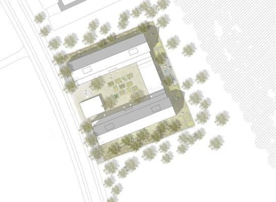 1. Preis Wettbewerb Baufeld D5: Lageplan, © BHM Planungsgesellschaft mbh / AP88 Architekten