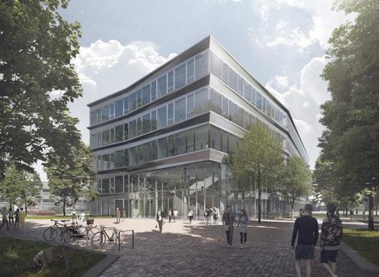 1. Preis: Campusvorplatz, © Müller Reimann Architekten, Perspektive MISS3 s.r.o