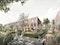 Buchholzer Grün. Natur. Nah. Wohnen. Blick auf Gartenseite der Reihenhäuser