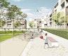 Grüner Wohnhof der Baugruppen