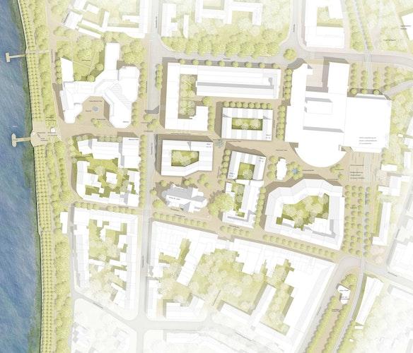 Neugestaltung Friedrich-Ebert-Platz mit Ideenteil Innenstadt Porz in Köln
