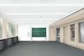 Innenraumperspektive Klassenraum