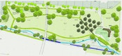 Entwurf Retzbachpark und Retzbachrenaturierung: hier Ausschnitt Park
