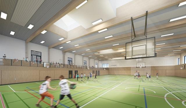 Sporthalle Wustermark, Neubau
