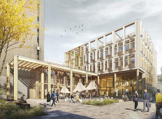 Gewinner: Perspektive Hof, © Behnisch Architekten