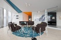 Ritz Apartment Almaty by COORDINATION living room with customized loose furniture