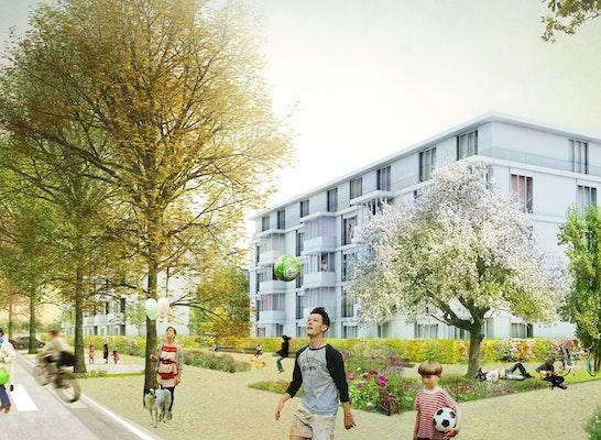 Anerkennung stern landschaften Blick ins neue Quartier