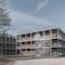 Wohngebäude für Asylbewerber in Holzmassivbauweise
