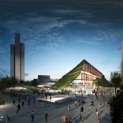 Gewinner Reaktivierte Zentren: Köbogen 2, Düsseldorf, FSWLA Landschaftsarchitektur GmbH, Molestina Architekten GmbH, ingenhoven architects, Peutz Consult GmbH, © ingenhoven architects