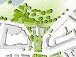 Die Lage mit den Grünbereichen