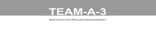 Logo TEAM-A-3 Architektur + Projektmanagement