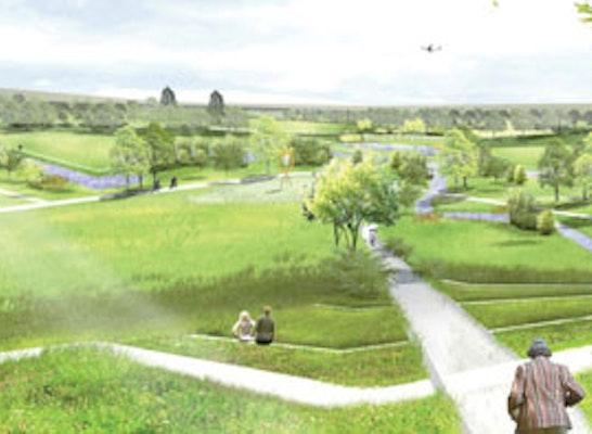Blick vom Bellevue über die Aue