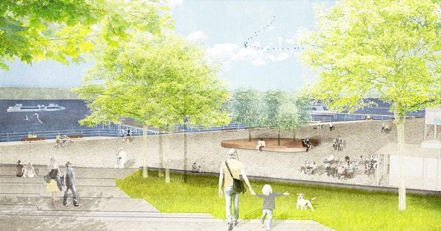 Umgestaltung der Ronnebypromenade und Schiffsanlegestelle Wannsee in Berlin
