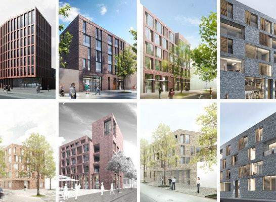 1. Preis Gebäude 1 (Baufeld A): Acht 1. Preise auf 4 Baufeldern