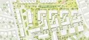 Vertiefungsbereich Hammersmith Höfe M 1:500
