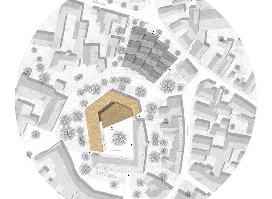 1. Preis Rathaus-Neubau: © Bär, Stadelmann, Stöcker Architekten BDA