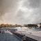 Perspektive Außenraum I Blick in Richtung Kammerspiele und Donau