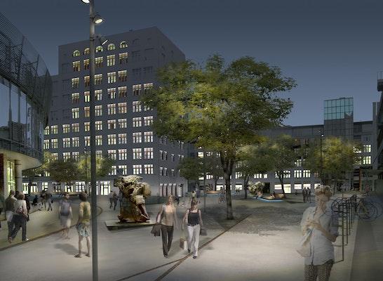 Nachtperspektive - Ernst-Abbe-Platz