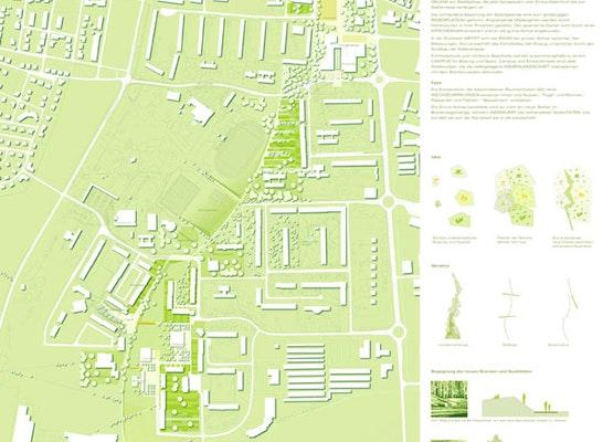 1. Preis: Lageplan des Gesamtgebietes