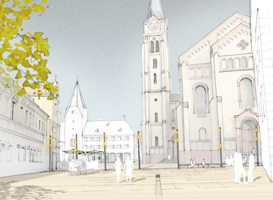 Blick auf die Pfarrkirche