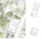 Lageplan mit Erdgeschossgrundriss, Obergeschoss und Untergeschoss