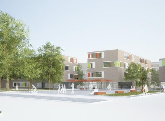 LINK3D Wettbewerbsperspektiven und 3D-Visualisierung, Kronenwiese Offenburg 2.Preis für Müller & Huber Architekten