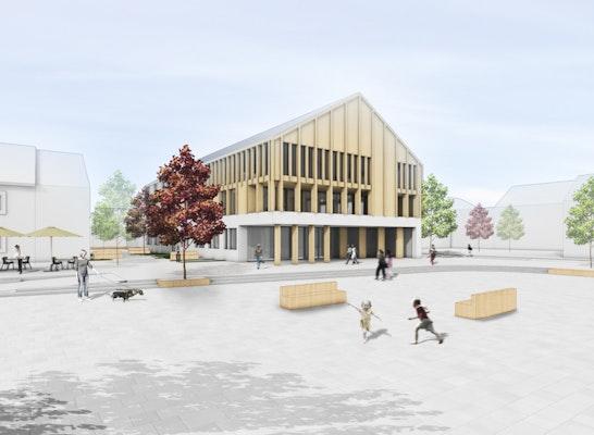 ein 1. Preis: Rathaus und Marktplatz Altusried