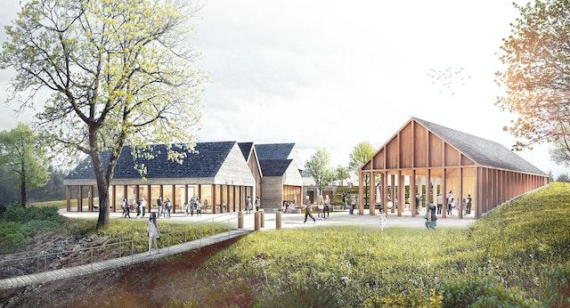 """Neubau des Kultur- und Heimathauses """"Ober dem Ufer""""  für die Stadt Blankenberg"""