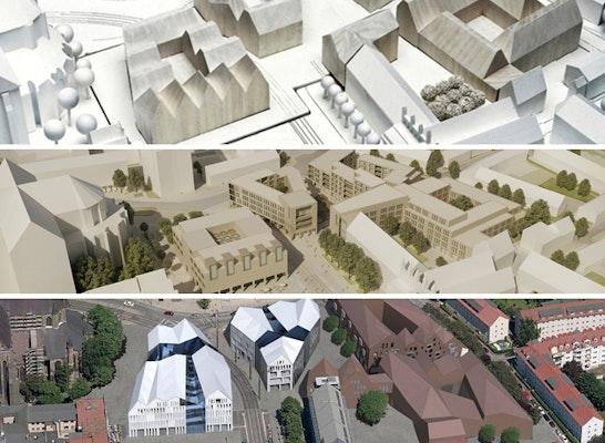 Preisgruppe: 3 gleichrangige Preisgruppen - oben: SMAQ; Mitte: Hübotter + Stürken - Architektengemeinschaft BDA; unten: de+ architekten