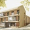 Wettbewerbsperspektive Gemeindehaus Ihringen für Stocker Dewes Architekten, Freiburg