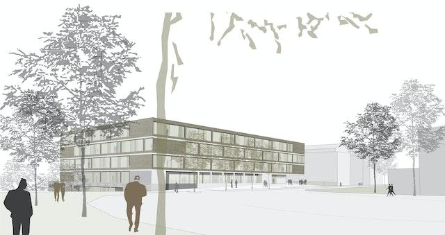 Neubau des Heinrich-Schliemann-Gymnasiums in Fürth