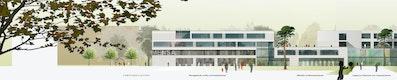 Gymnasium / Realschule Ansicht Nord © BLK2 Architekten