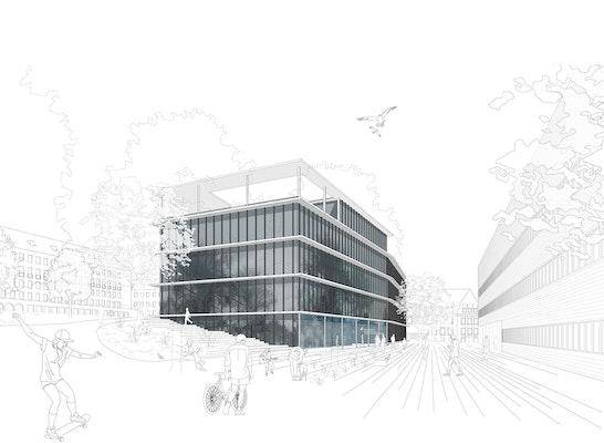 1. Preis: Aussenansicht, © doranth post architekten