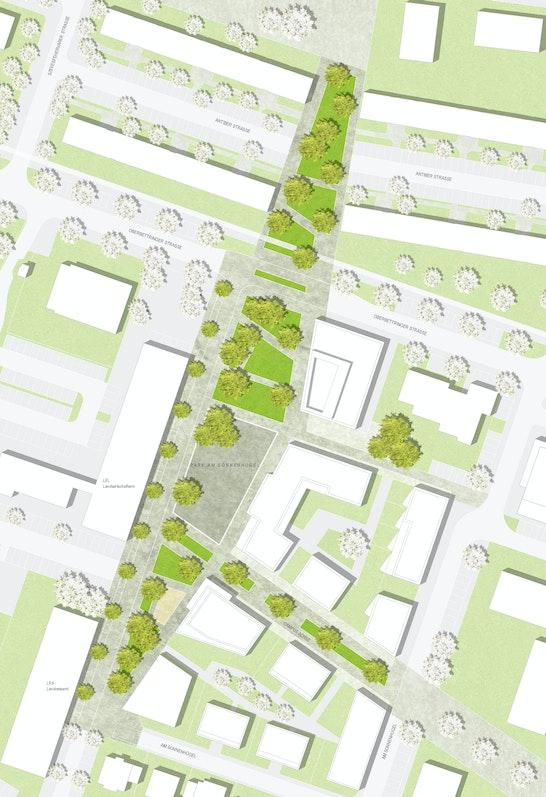1. Rang 1. Preis: Lageplan, © Plankontor S1 Landschaftsarchitekten